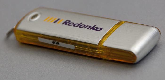 De USB stick waarop de presentatie verspreid werd