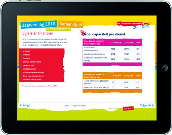 Screenshot De Kober Groep Jaarverslag 2010