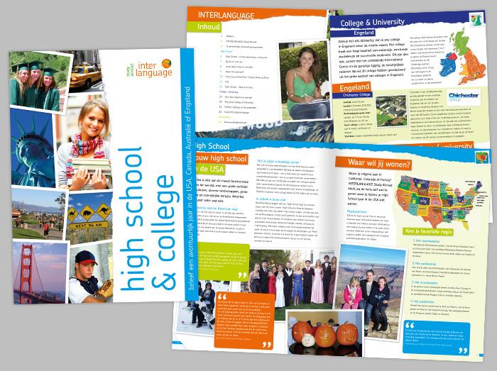 Voorbeeld van het binnenwerk van een brochure
